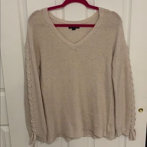 American Eagle Tie Sleeve Sweater